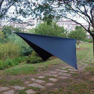 New Outdoor camping diamond-shaped sunshade silver-coated waterproof multifunctional pole-free sunshade high-grade