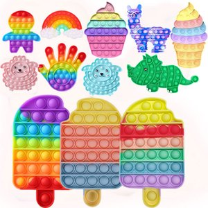 Crème glacée antistress fidget jouet push jouet bulle jouets arc-en-ciel adulte enfants stress relaxant jouet autisme a besoin de jouets pour enfants cadeaux