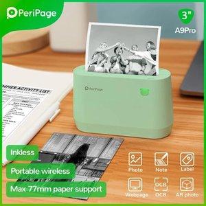 Printers PeriPage A9 A9S Max 203dpi 304dpi 3 Inch 4 Thermal Po Printer