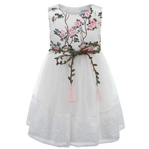 Enfantdkivy Girls Robe d'été Enfants Baby Girl Girl Princesse Robe Broderie Vêtements de mode Robe Robes Enfants pour filles 210303