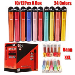 BANG XXL dispositivo monouso Dispositivo monouso 800mAh Battery pre-riempito 6ml POD POD 2000 BUFFS XXTRA Kit Penna VAPE VS Bar Plus XL RANDM DAZLE PRO IGET