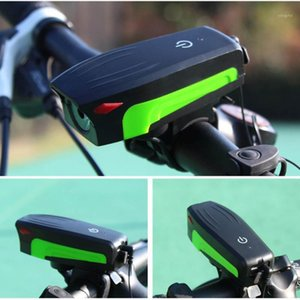 New Electric Loud MTB Bike Air Horn Ring Light Road Bike Handlebar 130db Bell Siren Cycling Front Lamp Drop Shipping1