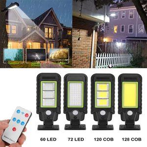 Güneş Sokak Lambası Açık Kablosuz Hareket Sensörü Güvenlik Duvar Işık 3 Aydınlatma Modları ile Gardens Sokakları İçin Uygun Avlu Yolları