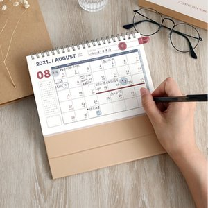 2021 NEW Kawaii 3 Size Solid Color Calendar Coil Calendars Schedule Creative Desk Table Dates Reminder Timetable Planner sl2563