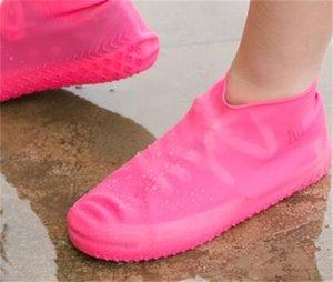 Reutilizável impermeável sapatos de silicone capa unisex botas à chuva à prova de chuva antiderrapante Overshoes grossos resistentes ao desgaste ao ar livre portátil útil 130 v2