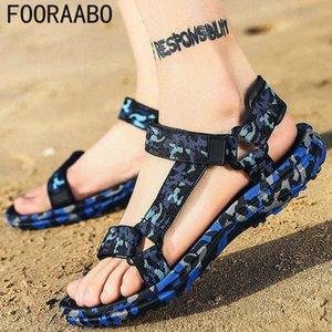 Summer Men Sandals Gladiator Beach Shoes Male Camouflage Slippers Sport Water Flip Flops Sandalia Masculina Zapatos De Hombre Y54C#