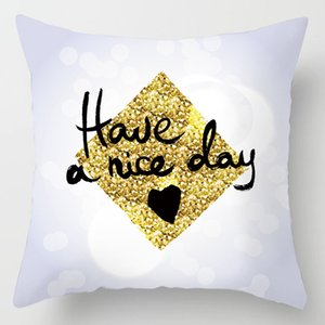 The Modern Abstract Golden Pillow Cases Household Light Luxury Pillows On The Sofa Cushions For Leaning On A Undertakes To Set Customs