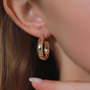 Punk Circle Earrings Round Metal Hoop Earrings For Women Rock Hiphop Earing Jewelry Gold Silver Color Earring Street Earings