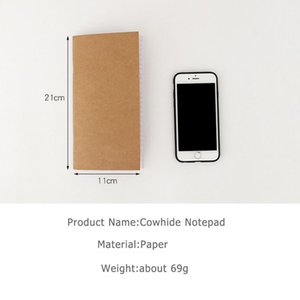 1pc lot Blank Kraft Sketchbook 110mmx210mm Traveler's Notebook Planner Memo Diary Notebook Standard Style Paper Book Pa jllrfh