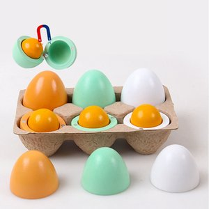 6PCS Play Kitchen Toys Magnetic Simulation Colored Eggs For Kids Pretend Play Food Cooking Children Baby Toy Set Funny Gift 210308