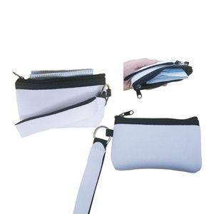 Sublimação de cartão de crédito em branco titular transferência de calor Impressão Neoprene Bolsa com corredura de bolsas de carteiras de pulseira ZZC5217