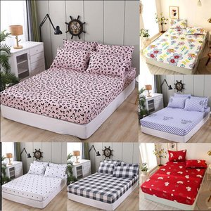 Sheets & Sets Linens 100% Polyester Fitted Sheet King Queen Size Bed High Quality Mattress Cover Printed Bedspread 150(No Case)