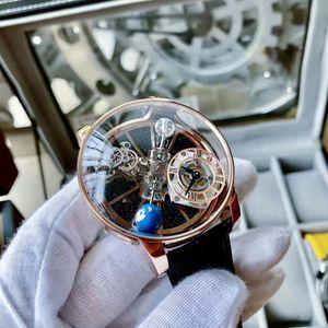 44.5mm Epic x Chrono CR7 Астрономический турбийон Гравитационная Трехместный ось Скелет Авентрин набора Уникальные мужские Часы Кварцевые Мужские наручные часы
