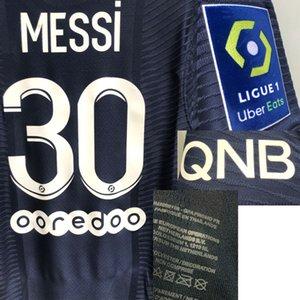 Главная Текстиль 2021 Матч Носил Игрок Messi MailloT Sergio Ramos Di Maria Neymar JR MBAPPE Таможенное название Номер Футбол Патч