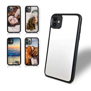 TPU+PC Blank 2D Sublimation Case Heat Transfer Phone Cases iPhone 12 11 Pro x xr xs max 7 8 8plus with Aluminum Inserts DHL