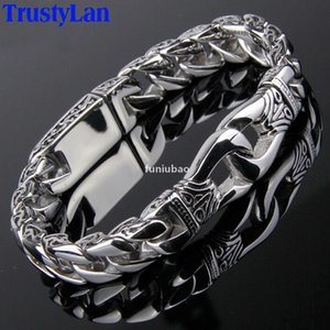 Trustylan Fashion New Stainless Steel Charm Bracelet Men Vintage Totem Mens Bracelets 2018 Cool Male Jewelry Jewellery Armband T190702