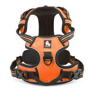 TRUE LOVE Adjustable No-Pull Dog Harness Reflective Pup Vest Harnesses Comfortable Control Brilliant Colors Truelove (S, Orange)