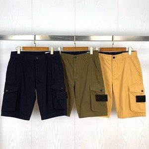 TopStoney 21SS Мода Hombre Shorts Side Malket Карманы Помытые комбинезоны Случайные Шорты Роскошные Дизайнеры Короткие Повседневные Уличные Шорты