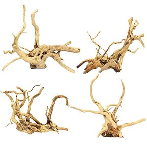 Aquarium Driftwood Natural Wood Reptile Branch Fish Tank Tree Plant Stump Ornament Decor 4 PCS