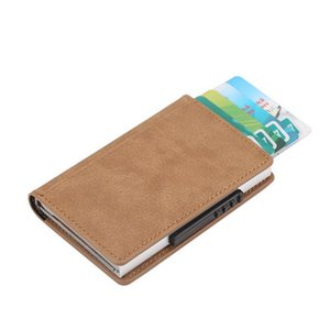 Bycobecy Magnetic Buckle Card Wallet Business Metal Card Purse Bank Card Box Rfid Blocking Holder Minimalist Walle jllBsi