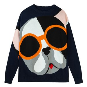 2021 New Men Spring and Autumn Koreantop Cartoon Jacquard Loose o Neck Sweater Male Casual Pullover Slim Fit Knitted Long Sleeve Clothes Ior