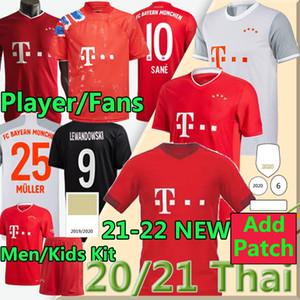20 21 Fanlar Oyuncu Sürümü See Lewandowski Coman Gnabry Alaba Davies Muller Soccer Jersey 2020 2021 Bayern Münih Futbol Gömlek Çocuk Setleri