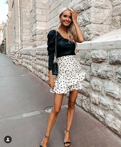 High Waist Polka Dot Skirt Women Empire Summer Skirt Ladies Formal Work newest style fashionable hot sale