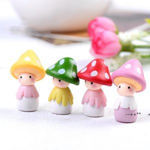 Garden Decorations Mushroom Figurine Cactus Ornament Miniature Landscape Accessories EWE9760