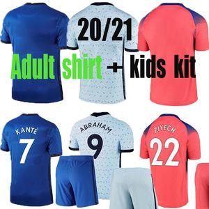 Adult shirt Chels Havertz 2020 2021 WERNER Chilwell PULISIC Kanté ziyech Silva 20 21 kids kit Soccer Jerseys Camiseta pre match polo shirts