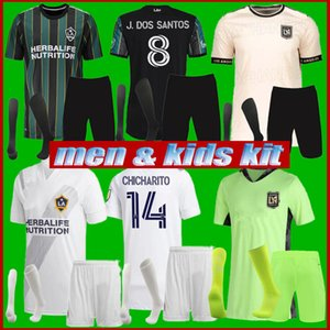 Männer + Kinder Kit 2021 Chicharito La Galaxy Soccer Jerseys J.Dos Santos Kljestan 21 22 New Mls Los Angeles FC Vela Football Hemden