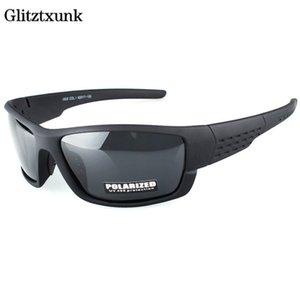 Glitztxunk поляризованные солнцезащитные очки Мужчины бренд дизайнерские площади спортивные солнцезащитные очки для мужчин, вождение черной рамки GOGGLE UV400 OKULARY