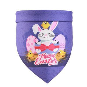 Easter Dog Bandanas Egg Bunny Pet Neckerchief Pet Holiday Triangle Scarf for Dogs Cats Decorations 5 Styles