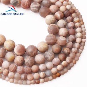 Другие Camdoe Danlen Натуральный камень Forst Dull Polish Matte Sun Круглые бусины 4 6 8 10 12mm Fit Diy Ожерелье Браслет Ювелирные Изготовления