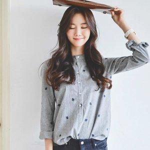 2021 Новая весенняя осень осенью уходит с длинным рукавом блузки женские повседневные рубашки женские топы полосатые блюсы феминистки хлопок 0n86