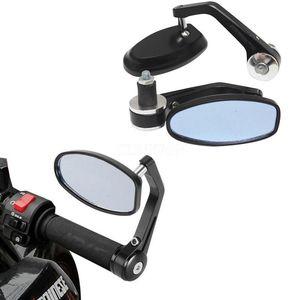"""50 Pair / lot 7/8 """"Yuvarlak Bar End Arka Aynalar Moto Motosiklet Motosiklet Scooter Dikiz Aynası Yan Görünüm Cafe Racer için Aynalar"""