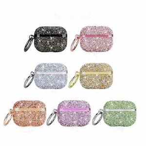 Strass de mode de luxe pour AirPods Pro 3 Cas de protection Crochet de protection Crochet Porte-clés anti-écouteurs anti-écouteurs