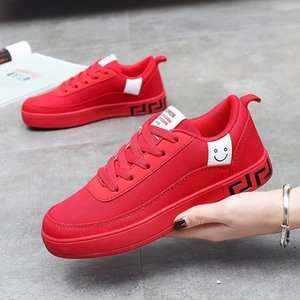 High Quality men women couple canva shoes flat shoes Black Red Autumn Walking Designer mens womens casual shoes