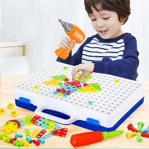 Tuerca para niños Herramienta Puzzle Toy Tornillo eléctrico Juguetes para niños Juego de taladro para niños 210312