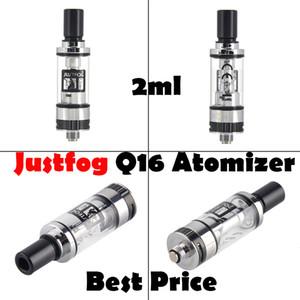 100% Original Justfog Q16 Atomizer 2.0ml 1.6ohm Pyrex Glass Tank Clearomizer For 510 ego Thread Mod