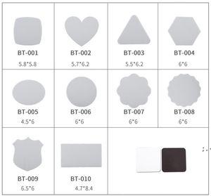 Sublimação em branco Ima De Geladeira 10 estilos DIY Sublimação Blanks Adorável Macia Imã de geladeira Decore BWA4243