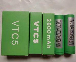 أعلى جودة VTC5 IMR 18650 بطارية اللون الأخضر 2600 مللي أمبير 30A 3.7 فولت عالية استنزاف قابلة للشحن الليثيوم vape مربع وزارة الدفاع IMR18650 بطاريات لسوني