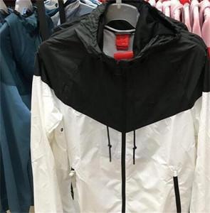 남성 여성 디자이너 재킷 코트 럭셔리 스웨터 까마귀 긴 소매 가을 스포츠 지퍼 브랜드 윈드 브레이커 망 의류 크기 S-3XL 후드