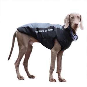 Dog Down Coat Waterproof Reflective Jacket Winter Warm Apparel Cold Weather Medium Big Dog Vest Back Zipper Adjustable Size Detachable Leash