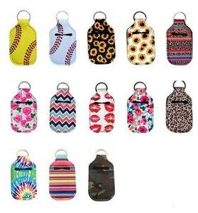 Insulator Hand Sanitizer Holder Lipstick Sunflower Keychain Neoprene Keyring Bags Soap Perfume Bottle Covers Accessories KKF1830
