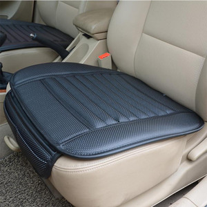 Universal Car Seat Cover Breathable PU Leather Bamboo Charcoal Car Interior Seat Cover Cushion Pad for Auto Supply Office Chair
