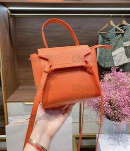 Micro Mini Nano Belt Womens Bag Grained Calfskin Leather Single Flat Top Handle Crossbody HandBag Lady Designer Flap Purse Wallet Bragmy Bags