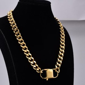 Hot Selling 3CM Link Chain Necklace for Women&Men Gold Color Stainless Steel Short Style Necklace Retro Jewelry&Accessories Gift