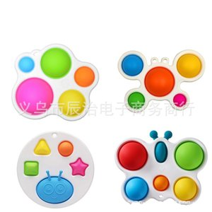 IN STOCK Newest Styles Baby Sensory Simple Dimple Toys Gifts Adult Child Funny Anti-stress Pop It Stress Reliver Push Bubble Fidget Toy 2 X2