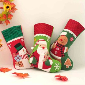 2021 new old man Snowman Christmas home gift bag socks Candy Bag decorative props