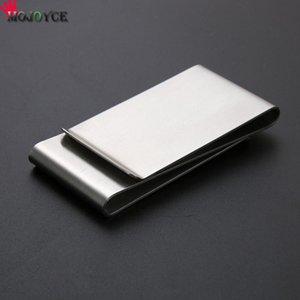 Mojoyce Drop Shipping di alta qualità Pratico multifunzione multifunzione in acciaio inox Cartella in acciaio inox clip in metallo Portafoglio in metallo